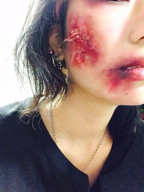 【ハロウィンメイク】ぜひ試したい「傷メイク」の色々教えます!のサムネイル画像